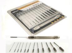 Miniatur-Röhrenbürstensatz Serie 81-A (rostfreier Stahl)