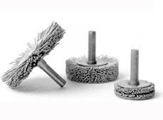 Scheibenbürste Nylon mit Antriebsschaft - Standard